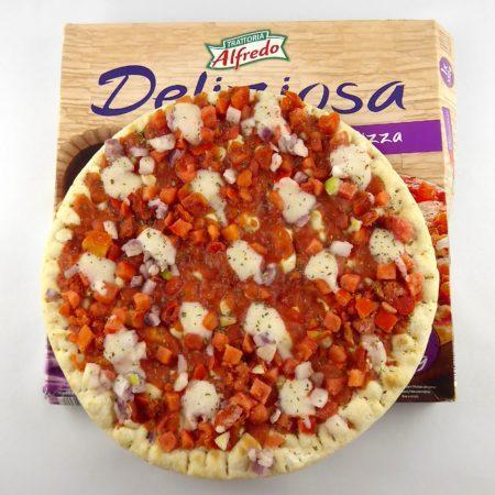 Trattoria Alfredo. Delizioza Vegan Pizza Bruschetta