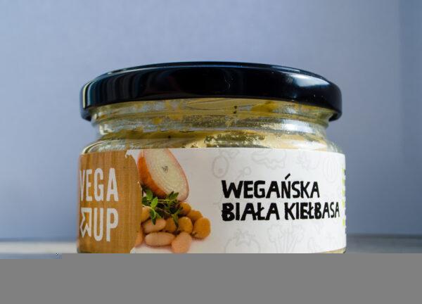 Vega Up. Wegańska biała kiełbasa
