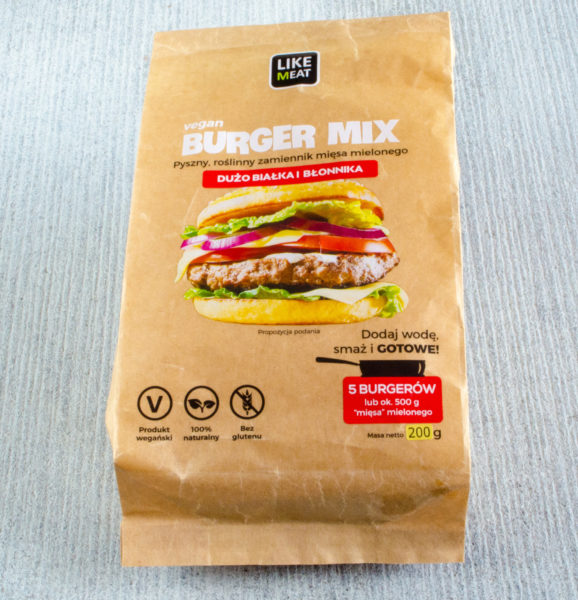 Like Meat. Vegan Burger Mix