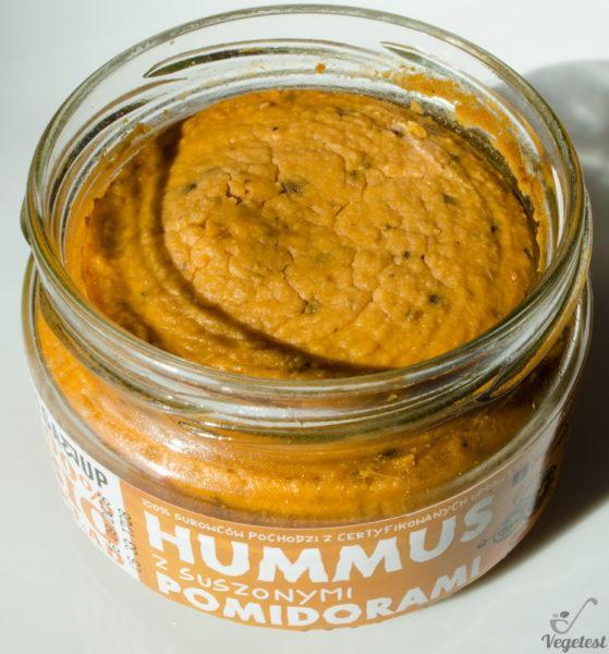 Vega Up. BIO Hummus wegański z suszonymi z pomidorami