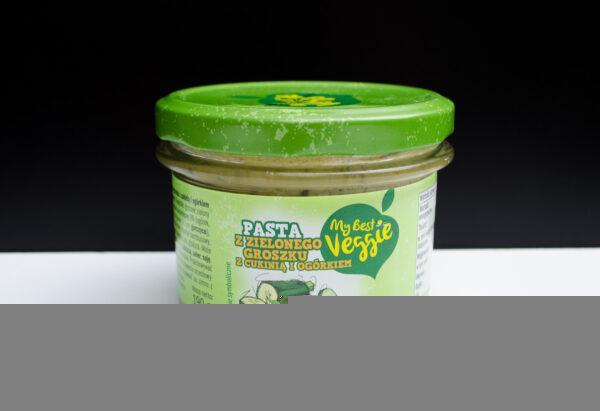 My Best Veggie. Pasta kanapkowa z zielonego groszku z cukinią i ogórkiem konserwowym