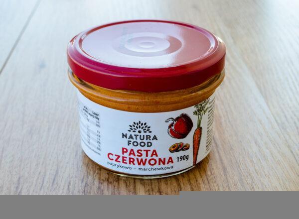 Natura Food. Pasta czerwona paprykowo - marchewkowa