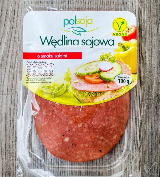 Polsoja. Wędlina sojowa o smaku salami