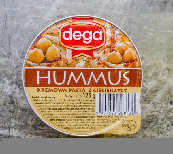 Dega. Hummus. Kremowa pasta z ciecierzycy