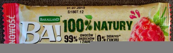 Bakalland Ba! Daktyle & malina z prażonymi arachidami i zbożem
