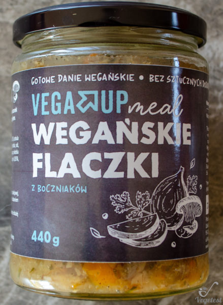 Vega Up. Wegańskie flaczki z boczniaków