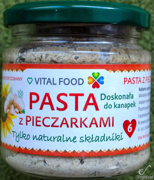 Vital Food. Pasta z pieczarkami