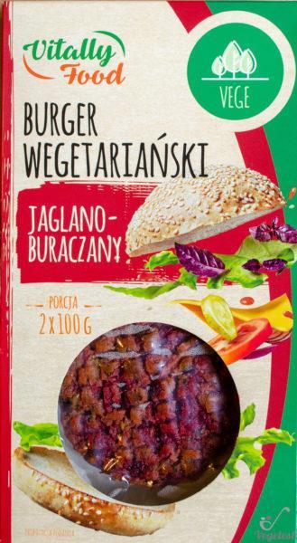 Vitally Food. Burger wegetariański buraczano-jaglany