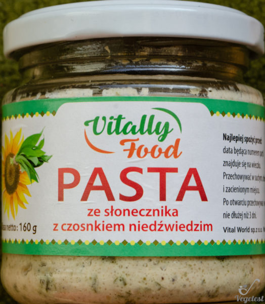 Vitally Food. Pasta ze słonecznika z czosnkiem niedźwiedzim