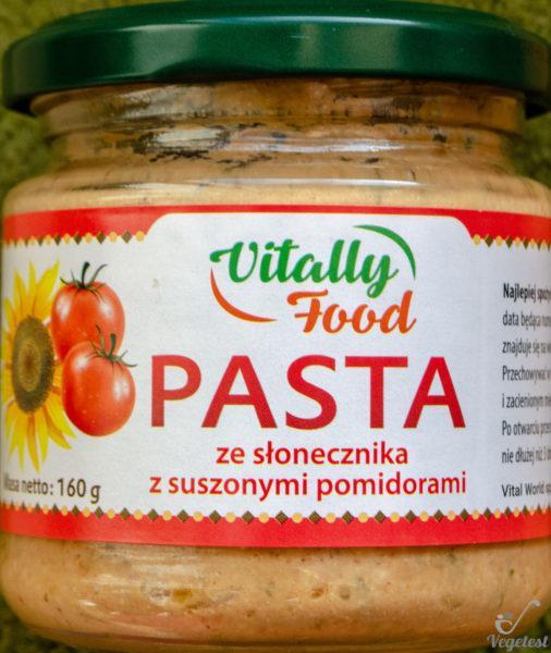Vitally Food. Pasta ze słonecznika z suszonymi pomidorami