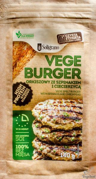 Vegeburger orkiszowy ze szpinakiem i ciecierzycą i