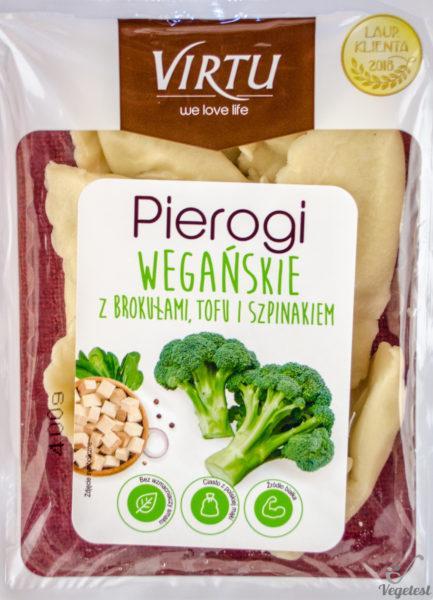 Virtu. Pierogi wegańskie z brokułami tofu i szpinakiem
