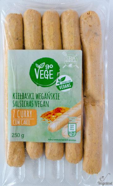 Go Vege. Kiełbaski wegańskie z curry