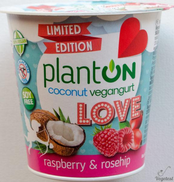 Jogurt Planton. Coconut yogurt raspberry & rosehip