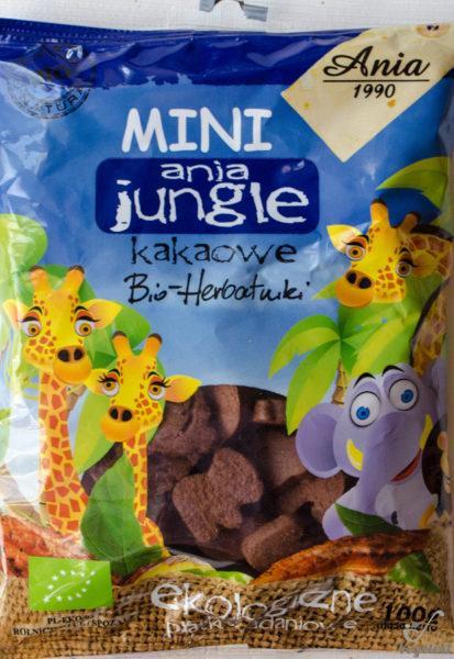 Ania. Mini jungle. Kakaowe bio - herbatniki