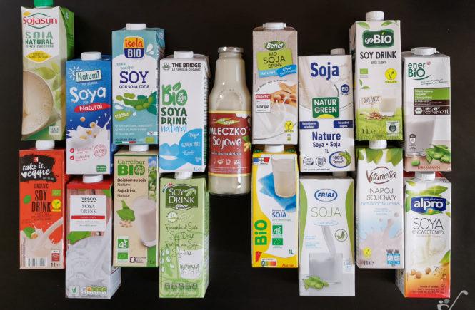 test napojów sojowych wegański blog