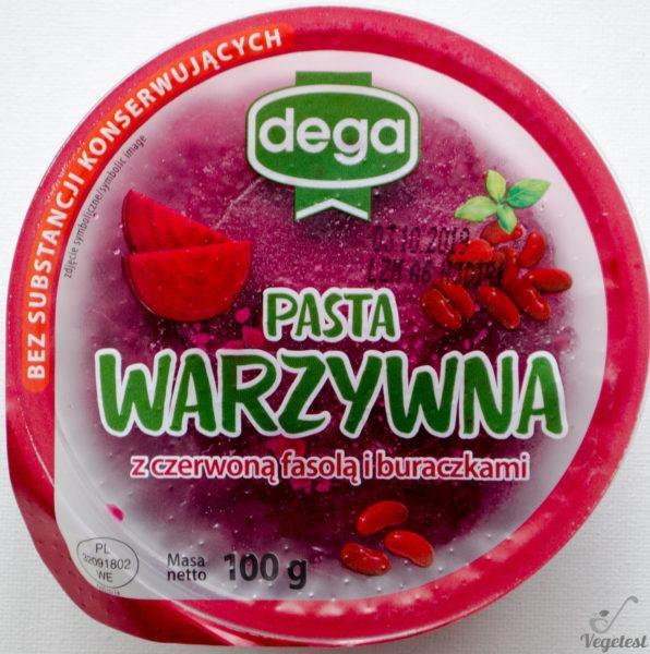 Dega. Pasta warzywna z buraczkami i czerwoną fasolą