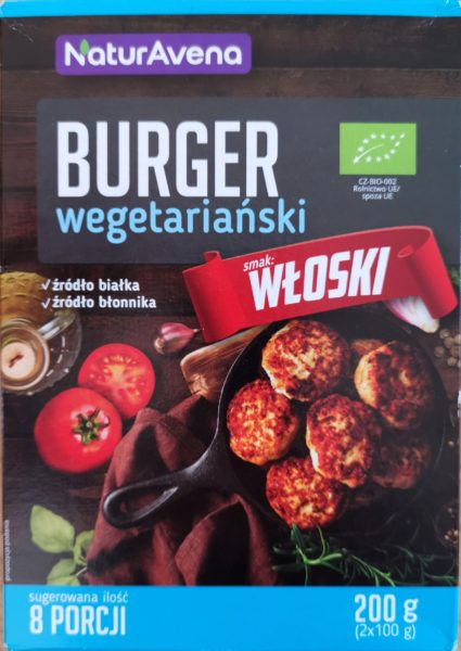Naturavena. Burger wegetariański włoski