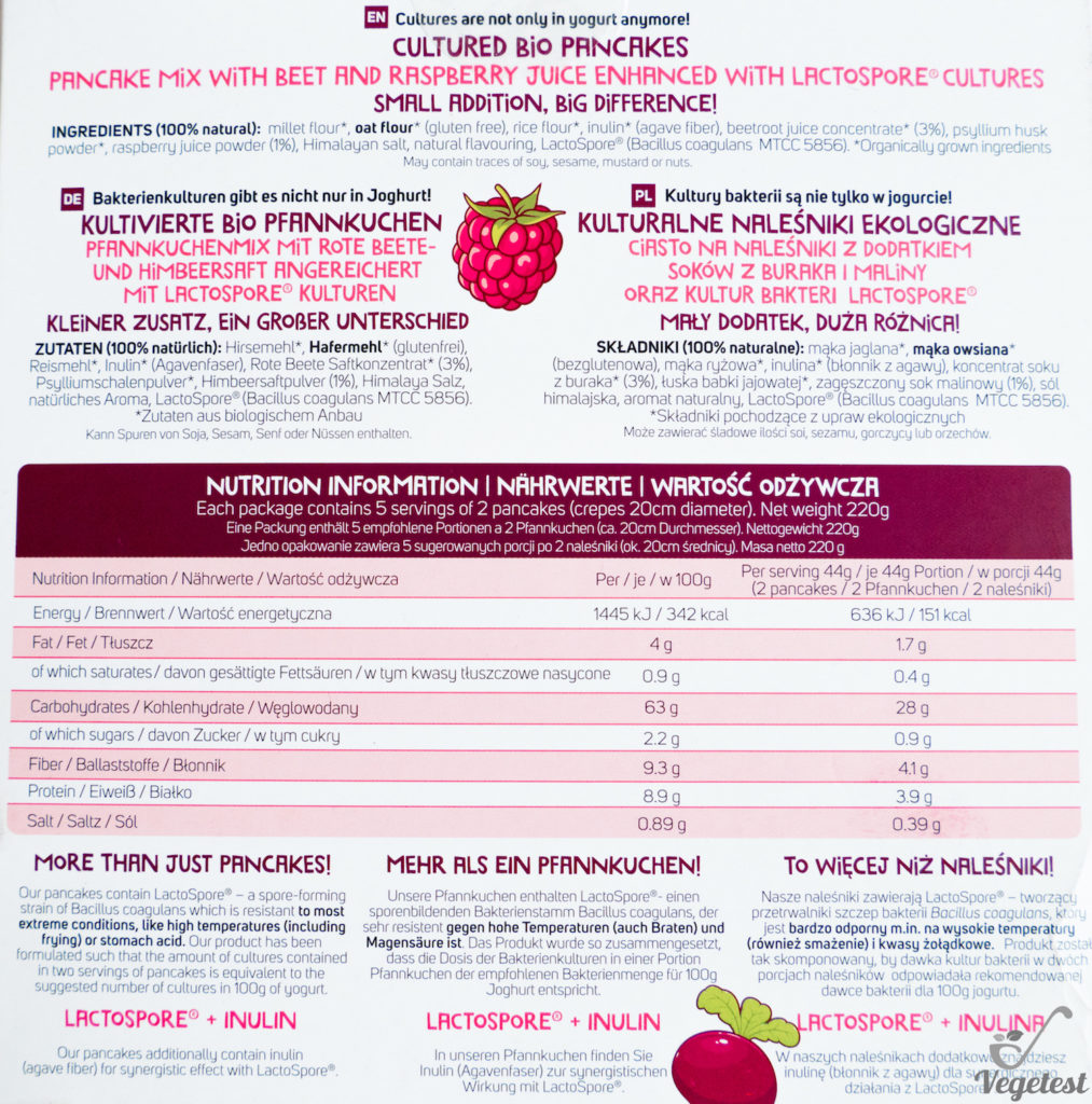 blog wegański test naleśników