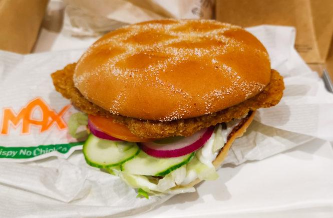 blog wegański z testem crispy chicken Max burgera
