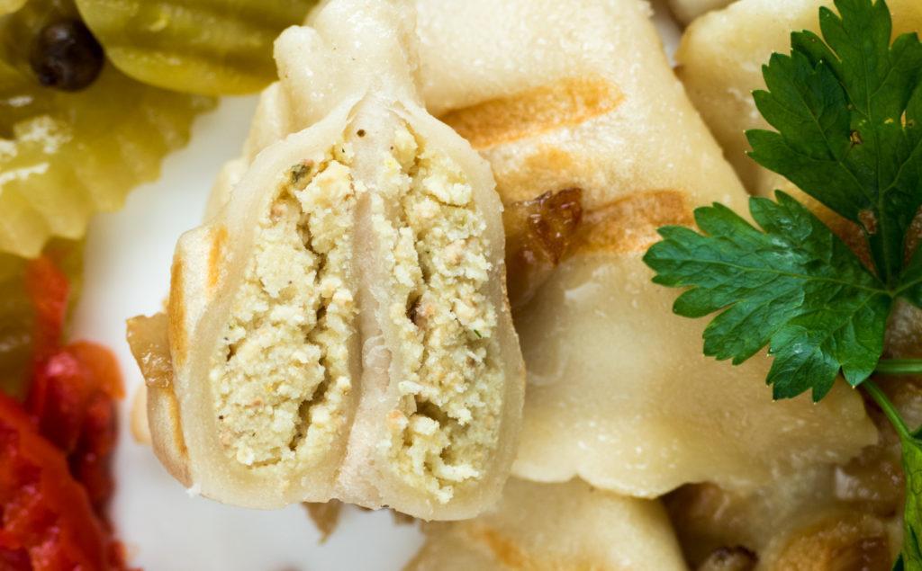 wegański blog test pierogi tofu z ziemniakami z lidla