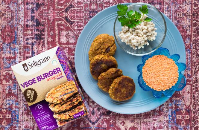 blog wegański test vegeburgera indyjskiego