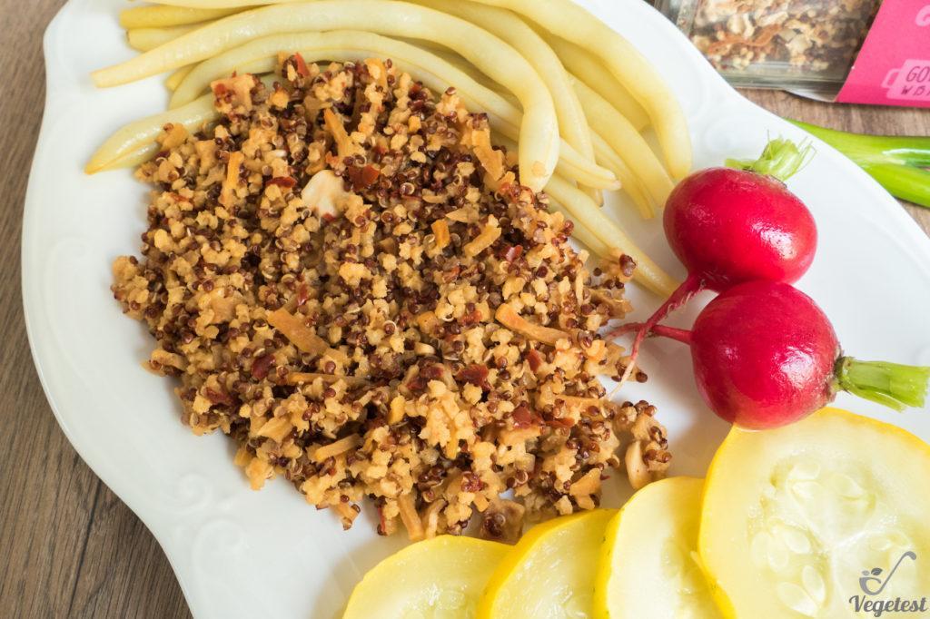wegański blog danie z komosą ryżową