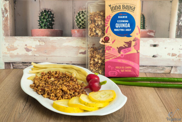 inna bajka czerwona quinoa wegański blog