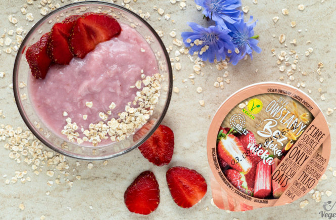 wegański blog deser owsiany bez deka mleka