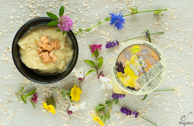 wegański blog deser waniliowy bez deka mleka