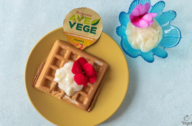 Deser wegański o smaku mango na blogu wegańskim