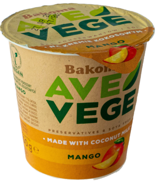 wegański blog deser wegański bakoma mango