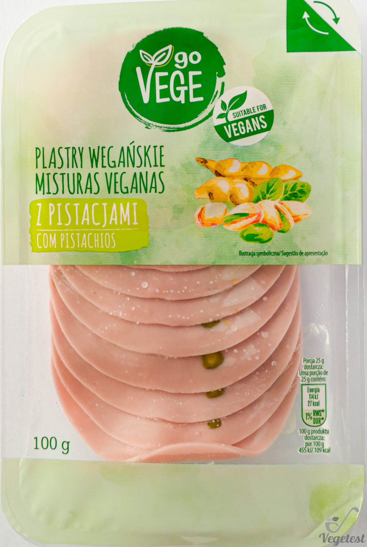 Go Vege. Plastry wegańskie z pistacjami