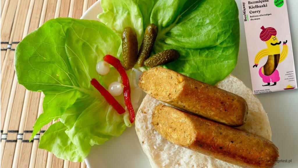 blog wegański bezmięsny kiełbaski curry
