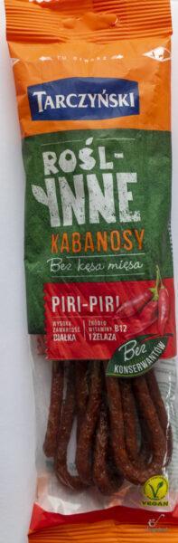 blog wegański kabanosy piri piri
