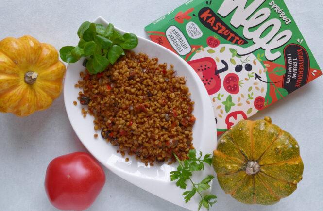 Spróbuj WEGE. Kaszotto kontynentalne z kaszą bulgur i kiełkami blog wegański