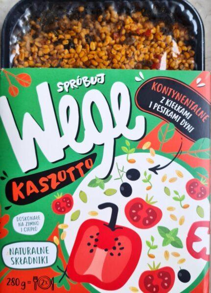 Spróbuj WEGE. Kaszotto kontynentalne z kaszą bulgur i kiełkami wegański blog