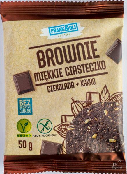 Frank&Oli. Brownie miękkie ciasteczko najlepszy blog wegański