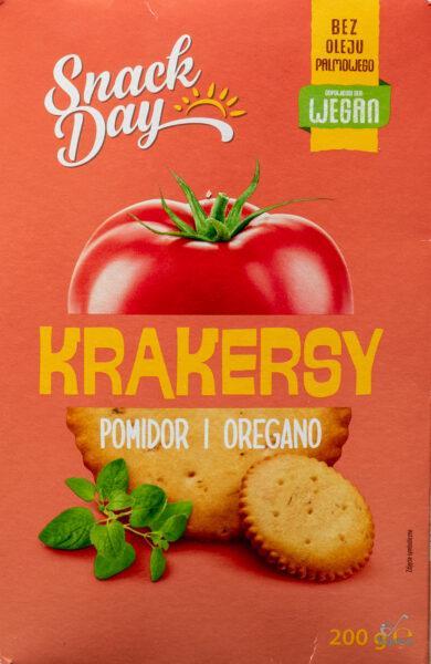 Snack Day. Krakersy pomidor i oregano